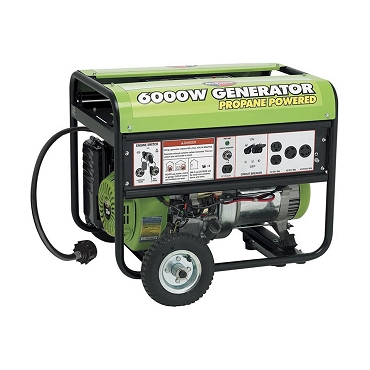 6000-Watt Propane Powered Portable Generator with Mobility Kit