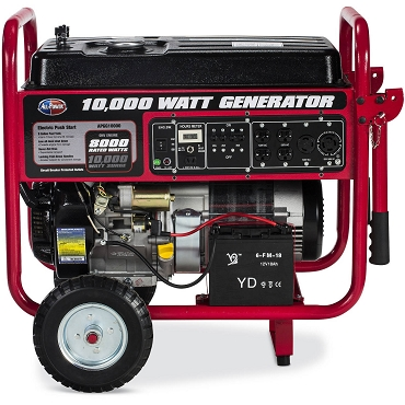 10,000-Watt Gasoline Powered Electric Start Portable Generator with Mobility Cart