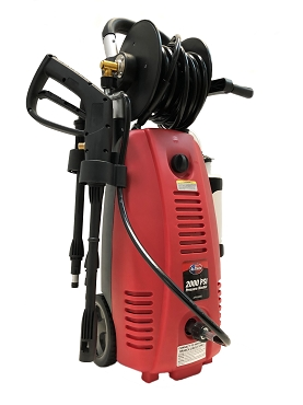 2000 PSI 1.6 GPM Red Electric Pressure Washer with Hose Reel for Buildings, Walkway, Vehicles and Outdoor Cleaning