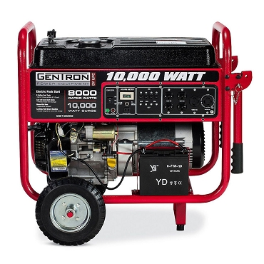 10,000-Watt Gasoline Powered Electric Start Portable Generator CARB Approved