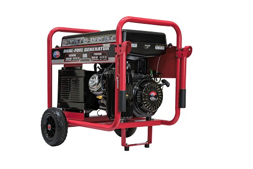 10,000-Watt Dual Propane and Gasoline Powered Electric Start Portable Generator