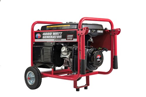 4000-Watt Gasoline Powered Portable Generator with Mobility Cart